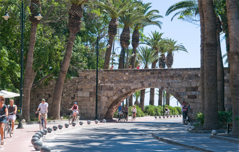 Kos is the island of the bicycle